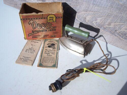 Vintage Dover Boudoir Iron Mini Electric Iron With Original Box
