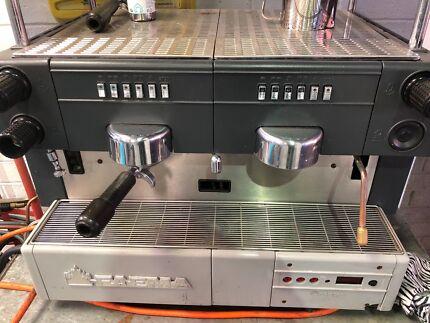 Coffee machine working