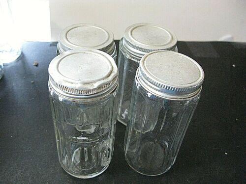LOT OF 4 HOOSIER SELLERS CABINET SPICE JARS