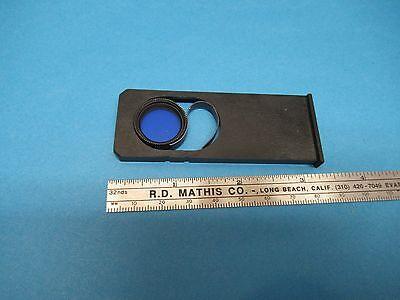 Blue Filter Slide Polylite Reichert Austria Optics Microscope Part As Is 85-a-47