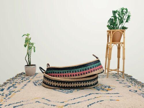 Fair Trade Handwoven Baby changing Basket plus mattress.  *Moses mat bag unit*