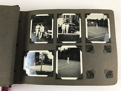 108 Antique 1920s-30s B&W Photo Album England Car Men Women Ships Street Fashion