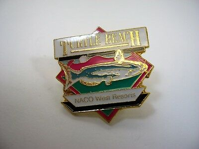 Vintage Collectible Pin  Turtle Beach Naco West Resorts Fish Design