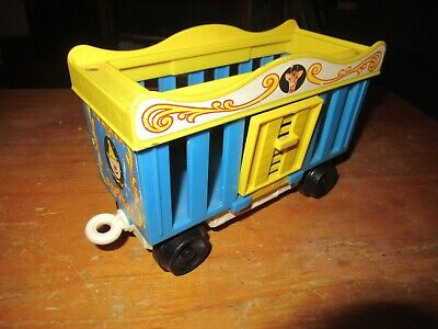 Fisher Price Little People Circus Train Giraffe Cage Car vintage