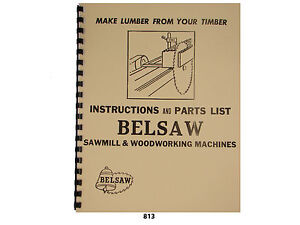 Foley-Belsaw-Sawmill-Woodworking-Machines-Instructions-Parts-Lists-813
