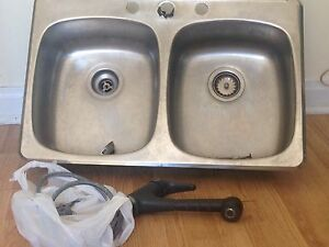 Double sink and tap