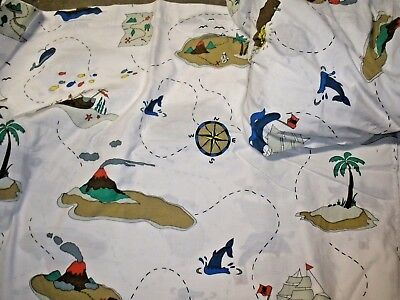 Pirate twin size 3 piece bed set flat, fitted, pillowcase Divatex  ()