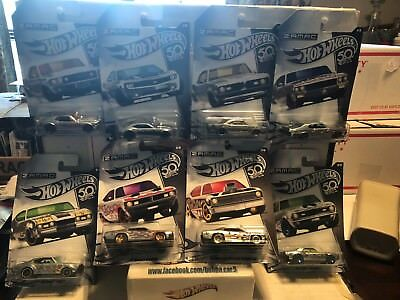 Hot Wheels: 50th ANNIVERSARY ZAMAC - 2018 Walmart Exclusive - COMPLETE 8 Car Set