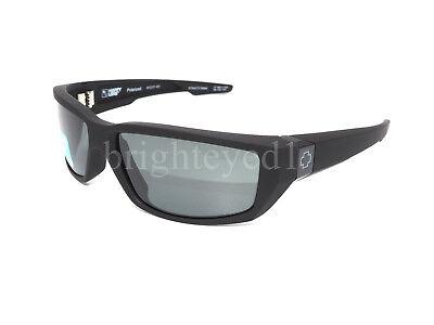 Authentic SPY Dirty Mo Polarized Soft Matte Black Sunglasses 670937219864 *NEW*