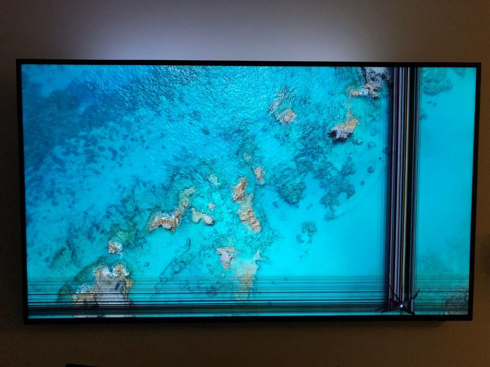 """Samsung 65"""" Class 4K UHD TV-UN65KU630D Broken screen for parts."""