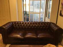 CHESTERFIELD LOUNGE, WING AND TUB CHAIR. ALL LEATHER Northbridge Willoughby Area Preview