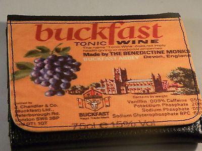 BUCKFAST WINE BUCKFAST TONIC WINE BUCKY  UNIQUE EXCLUSIVE TRI FOLD WALLET
