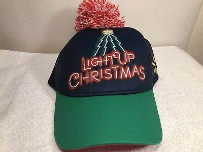 4b2edc23489fc WALMART LIGHTUO CHRISTMAS PROMOTIONAL SNAP BACK BALL CAP    BRAND NEW