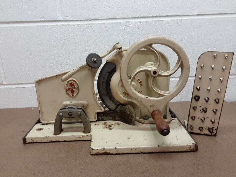 Vintage General Brand Cast Iron Hand Crank Meat Slicer: Made in the USA Pat Pend