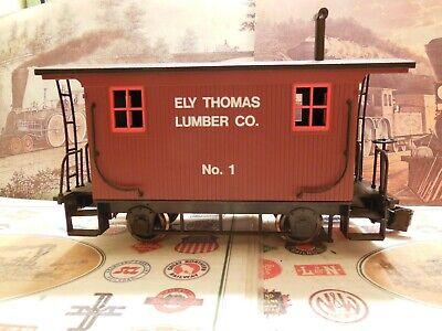 G Gauge-Ely Thomas Lumber Co Caboose # 1 (has knuckles & metal wheels)--- LQQK