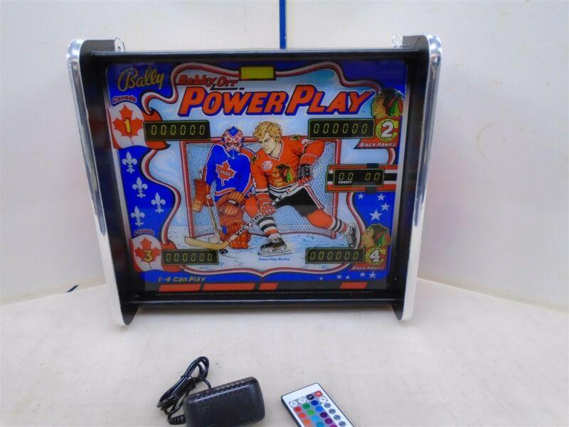 Bally Power Play Pinball Head LED Display light box