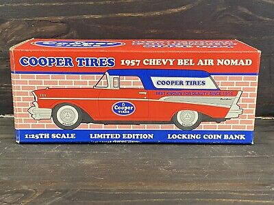COOPER TIRES~1957 CHEVY BEL AIR NOMAD~1:25 TH~LOCKING COIN BANK~LIMITED EDITION