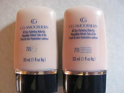 COVERGIRL CG SMOOTHERS ALL DAY HYDRATING MAKE-UP #705 and #715 Lot of 2
