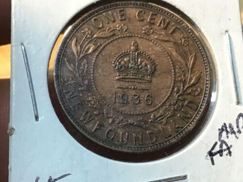 1936 Canada Large Newfoundland Penny