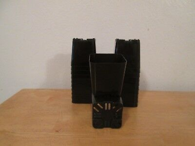 75  black  2 x2  square  pots  brand New  free shipping.