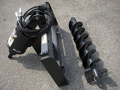 Bobcat Skid Steer Attachment - Lowe Bp210 Hex Auger With 9 Bit - Ship 199