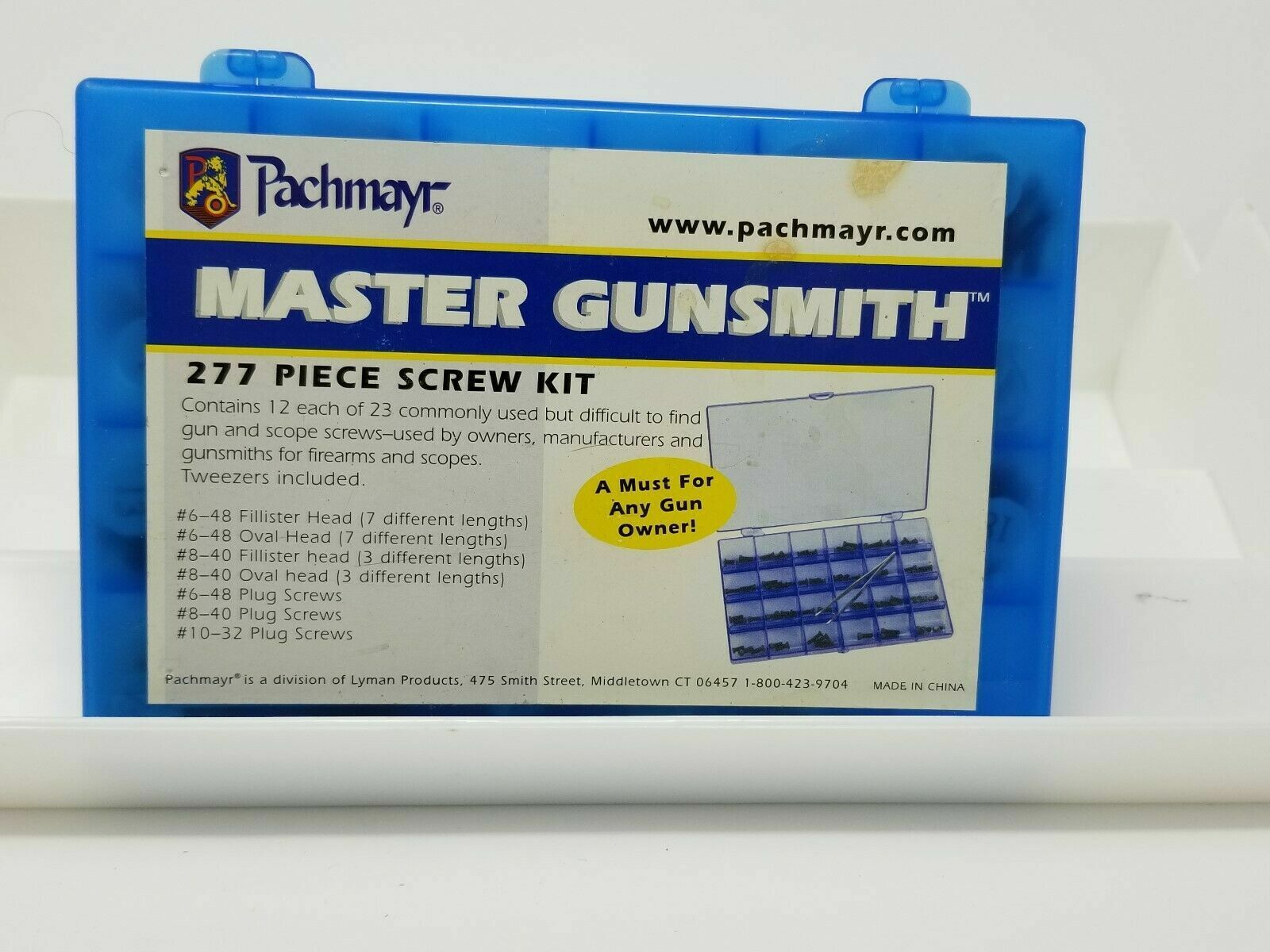 Pachmayr Master Gunsmith 277 Piece Screw Kit 03054
