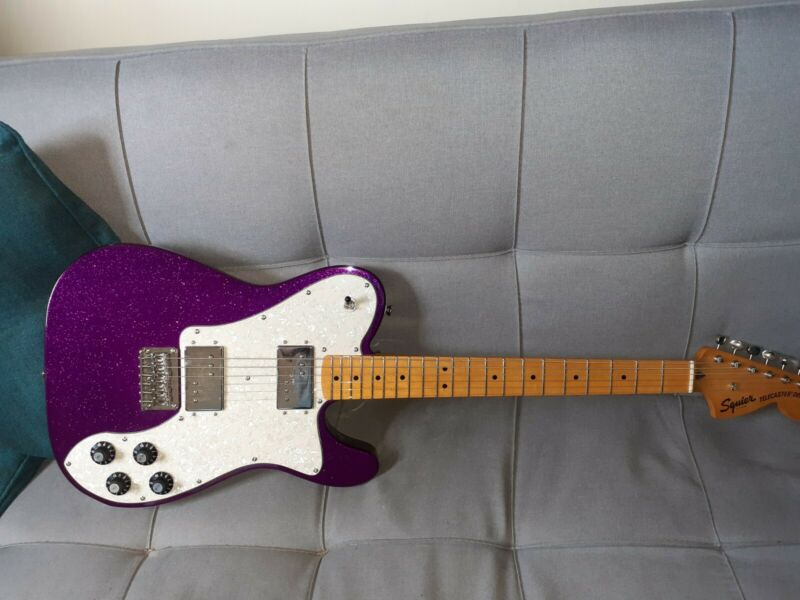 Squier classic vibe fsr telecaster deluxe purple