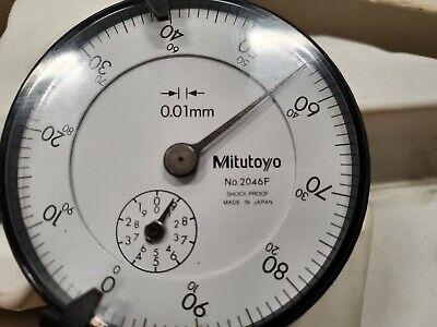 Mitutoyo 2046f Dial Indicator 0-10mm Range 0.01mm Graduation