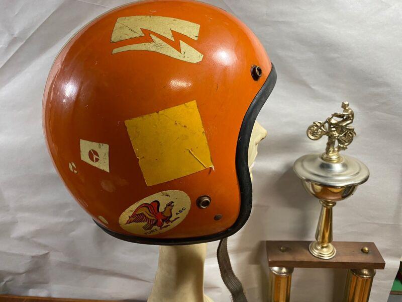 Vintage 1960S 1970S Fury Helmet Motorcycle Motocross