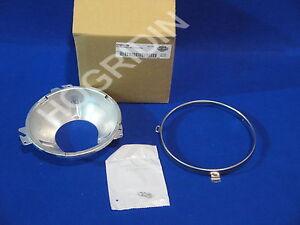 Harley headlight head lamp clam shell retaining trim ring touring shovelhead fl