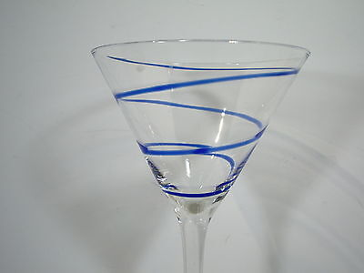 Martini Glasses Set of 4 Swirl Orange Blue Mauve Home Essentials New with - Orange Martini Glasses