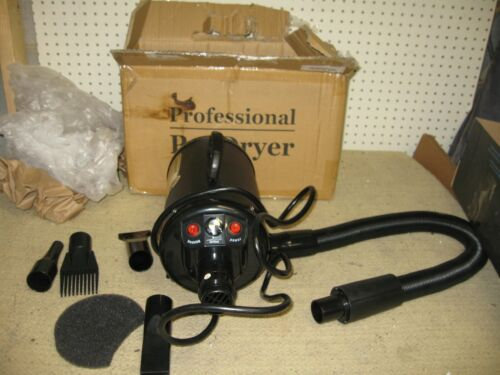 NEW Professional Pet Hair Dryer Adjustable Speed STL-1902 Hose Motor Attachments