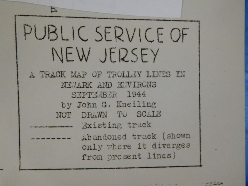 Map Public Service of New Jersey Sept 1944