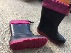 Girls Weather Spirits boots with removable liners size 2