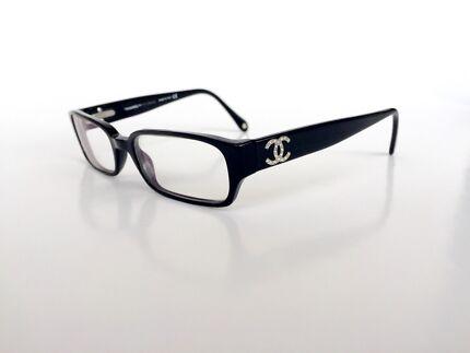 Chanel Reading Glasses Eyeglasses Black Swarovski 3075-b c.501 51D17 Wollstonecraft North Sydney Area Preview