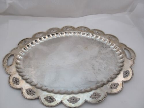 Sterling Silver Oval Tray 1485