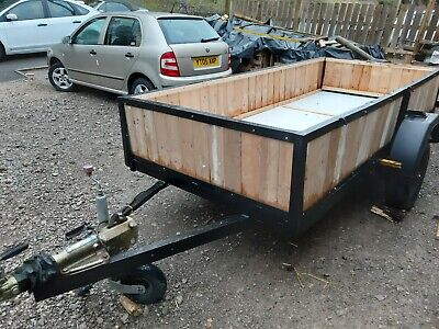 Ten Foot  Single Axle  car trailer with new wood and new mudguards
