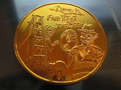 freddy krueger cat bat friday 13th Mardi Gras Doubloon Rare orleans - Freddy Krueger Caterpillar