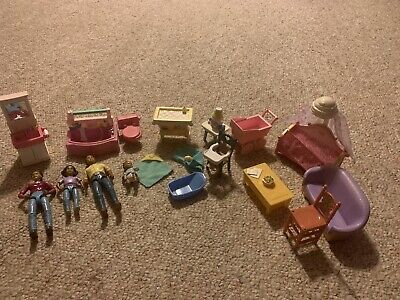 Fisher Price Loving Family AA Figures And Furniture Lot (18)