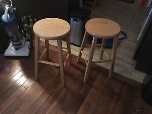 Solid wooden bar stools