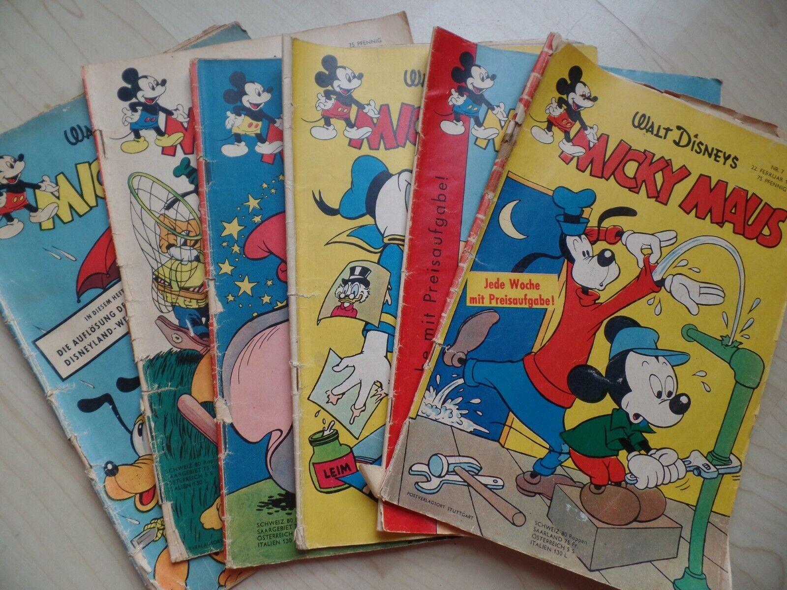 Micky Maus 1956 Heft 12, 16, 17 + 1958 Heft 7, 34, 47