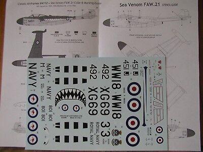 1 48 Dehavilland Sea Venom Faw 21 Decal W Data Microscale Classic Airframes Oop