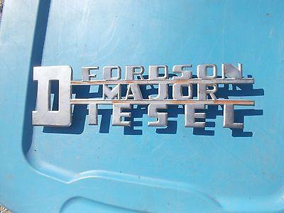 Fordson Major Diesel Tractor Originl Power Major Chrome Hood Side Panel Emblem