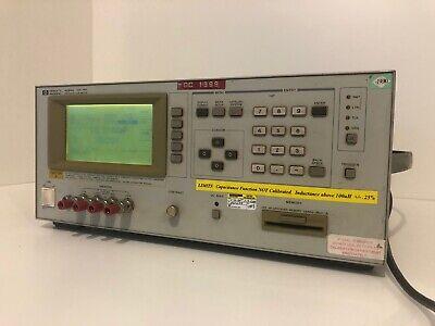 Hewlett Packard Hp 4284a Precision Lcr Meter 20hz-1mhz Woption 001 006