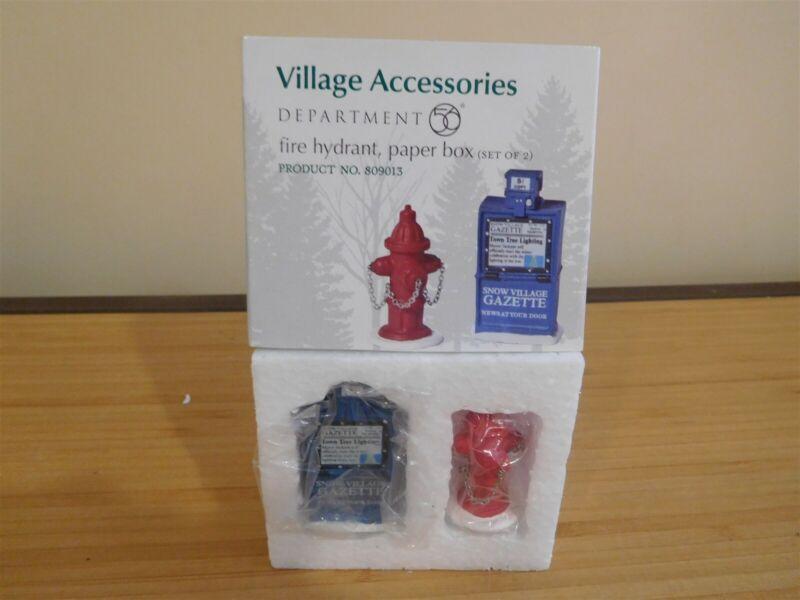 Dept 56 Village Accessory - Fire Hydrant, Paper Box - Free Shipping