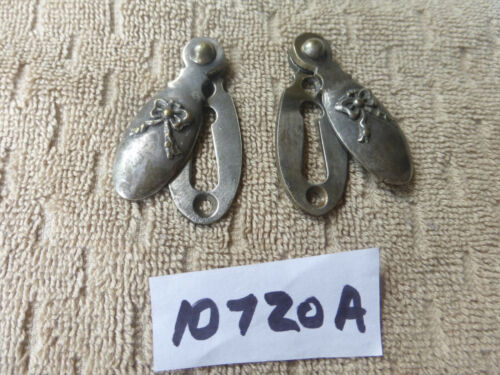 2 Vintage Antique Ornate Swinging Brass? Key Hole Covers 10720 A