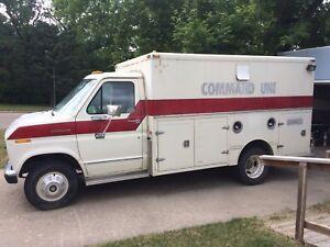 Ambulance/camper conversation van!
