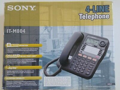 Sony It-m804 4-line Corded Business Phone With Speakerphone Tested Working