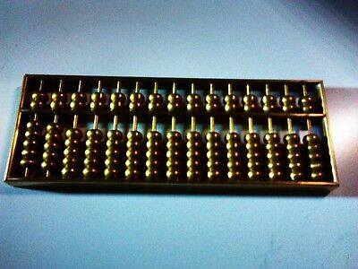 Vintage Brass Chinese Abacus. 91 pieces set Used, in very good condition!.