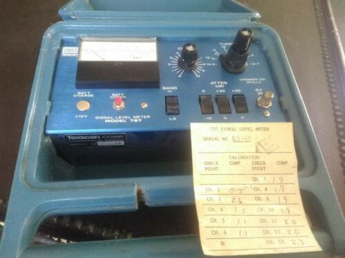 JERROLD TEXSCAN SIGNAL LEVEL METER 797 ~ Used